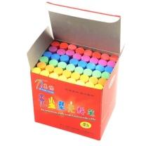 万畅儿童画笔无尘塑光彩色粉笔  48支/盒 (TB)