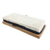 杰京 木黑板擦 2080  棕羊毛粉笔擦
