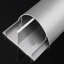 冰禹 铝合金弧形地板线槽 BYly-34 12号(长1米)  1米/根 铝拉丝