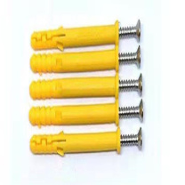 纳仕徳 蝴蝶型膨胀管+螺丝钉 PZ-357 (黄色) 100套/桶