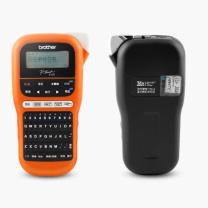 兄弟 brother 标签打印机 PT-E115 (橙色) 不干胶打印机便携式手持式线缆布线替PTE100B