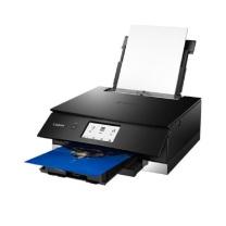 佳能 Canon 照片打印机 8380  彩色喷漆 功能:打印、复印、扫描,打印速度:黑白15ipm;彩色10ipm操作面板: 4.3英寸LED液晶屏,打印分辨率: 4800X2400dpi连接方式:无线直连接口: USB接口/SD卡