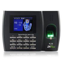 中控 ZKTeco 指纹彩屏考勤机 K28  (无WIFI连接)
