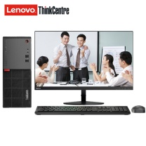 联想 lenovo 台式电脑套机 ThinkCentre E75 19.5英寸 i3-7100 4G 1T DVDRW 1G独显 Win7 三年上门 (黑色)