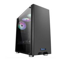 航嘉 Huntkey 组装电脑 i7-10700F/16G/512G/2T/RX5700xt/AOC 27寸显示器 (黑色)