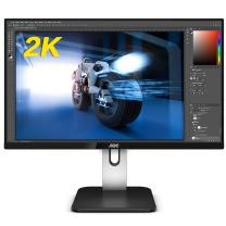AOC 显示器 Q24P1U 23.8英寸2K 高清低蓝光不闪IPS屏窄边框  旋转升降液晶显示器