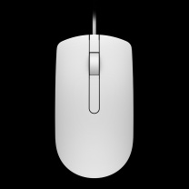 戴尔 DELL 戴尔笔记本台式有线鼠标键盘 MS116 36mm*113.6mm*61.1mm (白色)