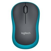 罗技 Logitech 无线鼠标 M185 带2.4G接收器-USB (黑色蓝边)