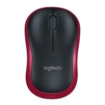 罗技 Logitech 无线鼠标 M185 (黑色红边)