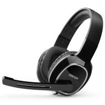 漫步者 EDIFIER 耳麦 K815 头戴式电脑耳麦 (黑色)