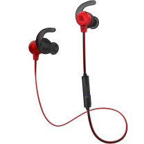 JBL 入耳式蓝牙无线耳机 T280BT 运动耳机+手机游戏耳机 苹果安卓通用 金属钛振膜 跑步磁吸式带麦 红色