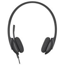 罗技 Logitech 耳麦 H340 (黑色) USB