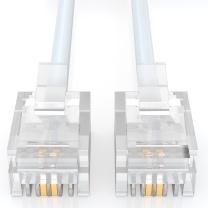 山泽 SAMZHE 电话线 2芯单股纯铜电话线 C28BWG-205C 成品电话线带水晶头 5米