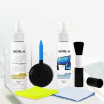宜客莱 ECOL'A 电脑清洁工具 CD-EL26  抑菌电脑清洁套装 笔记本清洁剂 液晶显示器屏幕 键盘(清洁液*2+清洁刷+气吹+清洁布*2)
