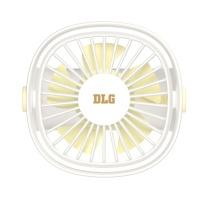 次世代 DLG USB桌面mini风扇 DTF-02 三挡调控风速 (白色) 集合无电芯更加安全耐用