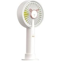 次世代 DLG 手持风扇 DTF-03 三挡调控风速 (白色) 选用锂电池 省电耐用 充电快速 风速稳定 噪音小