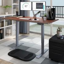 乐歌 显示器支架 E2 桌腿银灰+1.2m胡桃木色桌板 站立办公智能电动升降电脑桌