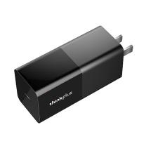 联想 lenovo 电源适配器 Thinkplus 口红电源 USB-C 65W便携电源适配器 (黑色) 36003081
