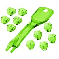 林迪 网线端口锁 40472 (绿色) 1把钥匙+10个锁头