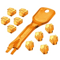 林迪 网线端口锁 40480 (橙色) 1把钥匙+10个锁头