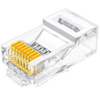 山泽 SAMZHE 六类网络水晶头 6类RJ45网络水晶头 8P8C电脑网线接头 Cat6水晶头 SJ-6030 30个