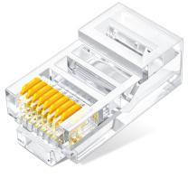 山泽 SAMZHE 超五类水晶头 超5类RJ45网络水晶头 WL-5100 100个  8P8C电脑网线接头 Cat5e水晶头