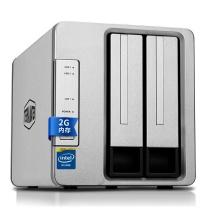 铁威马 硬盘存储器 F2-220 intel双核2.4G 2G内存 双盘NAS千兆网络存储 私有云存储服务器