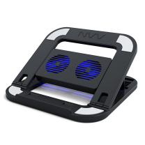 NVV 笔记本支架电脑支架散热器 折叠便携6档升降护颈椎电脑显示器桌增高置物架 NP-6经典黑