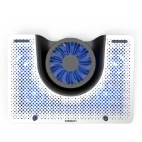 酷奇 cooskin 酷奇(cooskin) YDA-008 可调节 铝合金支架底座 低噪便携笔记本散热器 银色/黑色 YDA-008 可调节 铝合金支架底座
