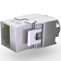山泽 SAMZHE RJ45网络模块 WPB-015  网络电话 信息模块超五类 六类 工程镀金版 屏蔽 超五类屏蔽免打模块