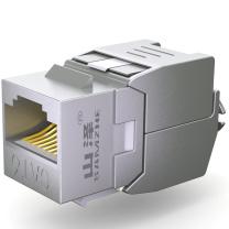 山泽 SAMZHE RJ45网络模块 WPB-016  网络电话 信息模块超五类 六类 工程镀金版 屏蔽 六类屏蔽免打模块