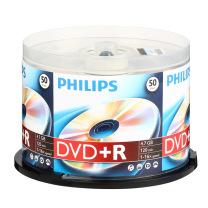 飞利浦 PHILIPS 光盘  50片/筒 DVD+R 16X 4.7G(新老包装随机,实物为准)