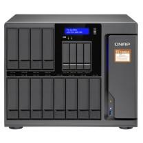 威联通 QNAP 十六盘位nas网络存器云盘云存储四核处理器 TS-1635AX-8G  +硬盘(WD60EFAX)6t*12个