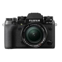 富士 FUJIFILM 微单套机 X-T2(18-55) (黑色) 2430万像素去低通 4K 镁合金防滴防尘 XT2 多向折屏