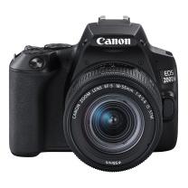 佳能 Canon 单反套机 EOS 200D II 200D2 EF-S 18-55mm f/4-5.6 IS STM (黑色)