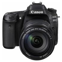 佳能 Canon 单反套机 80D EOS(含镜头18-200mm)+闪迪128G SD卡+佳能原装相机包+卡 商品毛重1.52kg千克 (黑色)