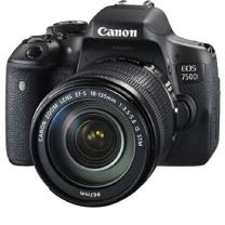 佳能 Canon 单反套机(EF-S18-55mmf/3.5-5.6ISSTM)+64G卡+相机包+三脚架 EOS 750D