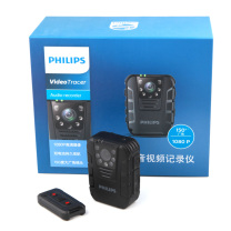 飞利浦 PHILIPS 执法取证 便携音视频 执法记录仪 1080P高清红外夜视摄像机拍照 一体机 VTR8100 64G