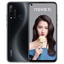 华为 HUAWEI 手机后置AI四摄 极点全面屏 前置2400万高清摄像头 nova 5i 8GB+128GB (幻夜黑)