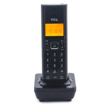 TCL D60 一拖二无线子母电话座机 黑(单位:台)