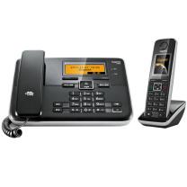 集怡嘉 数字无绳答录电话机 C810A 一拖一子母机 (黑色)