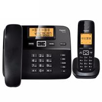 集怡嘉 无绳电话机子母机中文双天线长距离信号家用办公无线固定电话家庭座机一拖一 DL310 (黑) A280升级