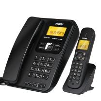 飞利浦 PHILIPS 数字无绳电话机 DCTG182 2.4G (黑色)
