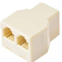 国产电话一分二分线器 (米黄色) 独立包装
