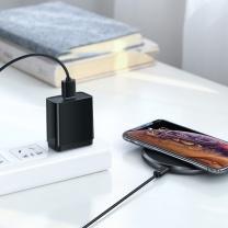绿联 UGREEN 无线充电器 绿联苹果无线充电器套装iphoneXS/R/XsMax手机7.5W快充三星10W充电适用华为小米手机 7.5W/10W双兼容无线快充