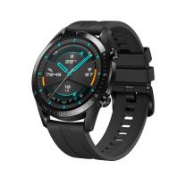 华为 HUAWEI 智能手表 WATCH GT2 (46mm)运动款 (彩屏蓝牙通话防水心率睡眠监测NFC男女手环) (曜石黑)