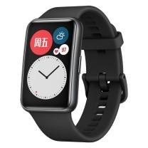 华为 HUAWEI 手表 运动智能手表方形 WATCH FIT (黑色) 时尚轻薄/华为快充/全屏触摸/专业运动/健康管理