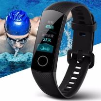 荣耀 手环4 标准版 AMOLED彩屏触控 50米防水+泳姿识别 实时心率检测 科学睡眠 适配安卓 iOS 智能运动 (陨石黑)