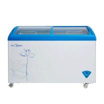 美的 Midea 卧式玻璃门展示转换冰柜 SD/SC-336HKMA 336L (美的蓝) 全国大部分地区含运(偏远地区加收运费,详询客服)