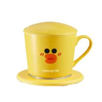 九阳 Joyoung 电加热水杯恒温暖杯垫 H01-Tea813  linefriends联名款 莎莉鸡